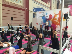 The London Yoga Show classes in action